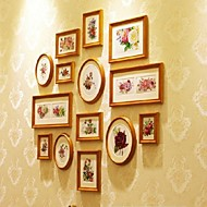 Antique Golden Photo Wall Frame Collection Set of 14