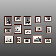 Brown Color Photo Wall Frame Collection Set of 15