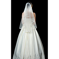 Wedding Veils One Tier Fingertips Veil With Ribbon Edge(More Colors)