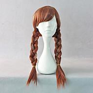 Frozen Princess Anna Brown Braid Pigtails Cosplay Wig