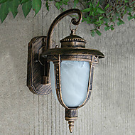 Outdoor Wall Light, 1 Light, Classic alumiini Lasimaalaus