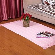Elaine puro algodão waffle rosa seleção tapete 333631