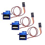 9G Mini Servo mit Zubehör - Translucent Blue (3pcs)