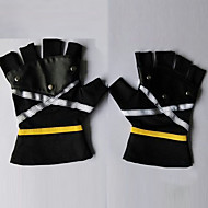 Gloves Inspired by Kingdom Hearts Sora Anime/ Video Games Cosplay Accessories Gloves Black / Silver Terylene Male