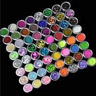 נייל 72 צבע אבקת נצנצים אמנות קישוטים