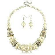 Jewelry Set Women's Wedding / Engagement / Birthday / Gift / Party / Daily Jewelry Sets Imitation Pearl Non Stone Necklaces / EarringsAs