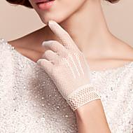 Wrist Length Fishnet Glove Nylon Bridal Gloves/Party/ Evening Gloves