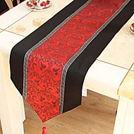 Chinese Style Red Polyester S'unir Chemin de Table