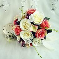 Colorido de forma libre Satin Wedding Bouquet