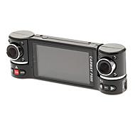 """F600 2.7"""" 16:9 Dual 180°-Rotating Camera HDMI Car DVR"""