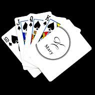 Gepersonaliseerde Gift White Signature Style Speelkaart