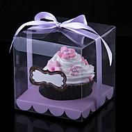 Schöne Cubic PVC-Kuchen-Verpackung und-Kästen mit Band - Set von 12 (weitere Farben)