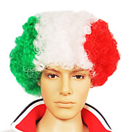 Capless Football Fans Party Wig (italiensk flag farver)