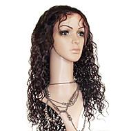 22 Inch Losse krullend 100% Human Hair Lace Frontal Wig maat verstelbaar Cap meer kleuren beschikbaar