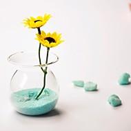 centres de table vase en cristal de verre deocrations de table (sable inclus, fleurs non inclus)