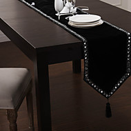 Noir Rectangulaire Chemins de table