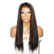 "16"" 100% Indian Remy Hair Lace Front Straight Wig"