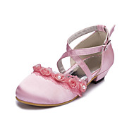 Flats Spring Summer Fall Winter Comfort Light Up Shoes Satin Wedding Party & Evening Flat Heel Ruffles Black Pink White