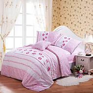 huani® Bettbezug für Kinder eingerichtet, 100% Baumwolle zeitgenössischen Stil Stickerei Druckblumenprinzessin