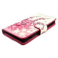 Plum Blossom Wallet PU de couro com tampa do suporte Case for Sony Xperia mini-Z1 Compact D5503