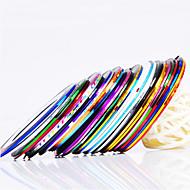 Decoração Art 12PCS 12-Color Striping prego Linha Tape Stripe Tape Nail Sticker