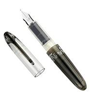 Cute Dois tinta preta Cartucho Pen intercambiáveis Capsule (Black)