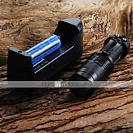 Foco ajustável Lanterna mini lanterna LED 7W 300LM CREE Q5 Zoom Lanterna + 14500 3.6V Bateria + Carregador de Bateria