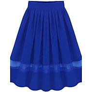 Women's Black/Blue/Red Skirts , Beach/Casual Maxi