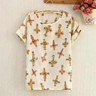 Women's Print Shirt Short Sleeve