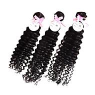 28 Inch 3pcs/lot Grade 5A brasilianske Virgin Hair Deep Curly Hair Extensions / vævninger