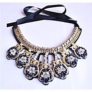 Women's Fashion Exaggerated Grain Set Auger Owl Fake Collar