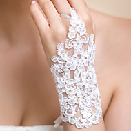 Wrist Length Fingerless Glove Lace Bridal Gloves / Party/ Evening Gloves Spring / Summer / Fall / Winter Rhinestone