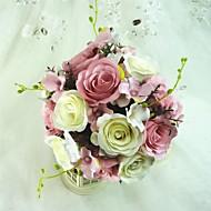 Superb de forma libre Satin Wedding Bouquet