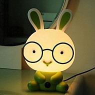 Tischleuchten Cartoon Hase grünem Kunststoff Acryl