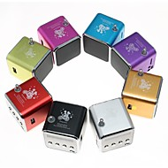 USB Music Angel Speaker TDV26 Portable Mini Support FM, MicroSDHC TF Card, USB Flash Drive (Assorted Color)