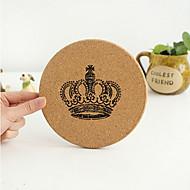Motif vintage de couronne ronde Wooden Coaster