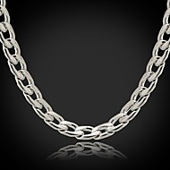 Dames Kettingen Verklaring Kettingen Roestvast staal Titanium Staal Modieus Zilver SieradenBruiloft Feest Speciale gelegenheden