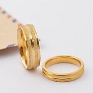 Classic Gold Scrub Stripe Titanium Steel Couple Rings Promis rings for couples