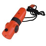 Survival Whistle Trilha Multifunção / Assobio Plástico Laranja