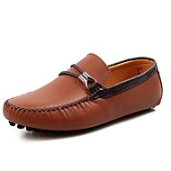 Men's Shoes Office & Career/Casual Leather Loafers Black/Brown/Yellow/White