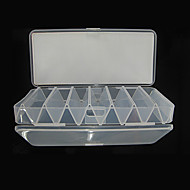 190*85*31MM Two Sides White Transparent Fishing Box Tackle Box