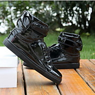 Non Customizable Men's Dance Shoes Hip-Hop/Dance Sneakers Leatherette Flat Heel Black/White