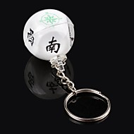 Oude oosterse mysterie Traditionele Good Luck Mahjong Compass - Wit + Zwart (10 PCS)