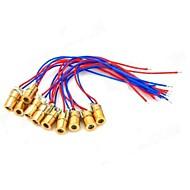 5mW 650nm Copper Semiconductor Laser Dot Diode Head Set - červená + modrá + zlatá (10 ks)