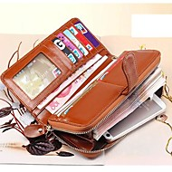 Fashion Women's  Long Wallet  Genuine Leather  Clutch Wallets Purse (Linning color on random)