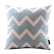 Cotton/Linen Pillow Cover , Chevron Modern/Contemporary