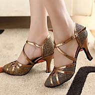 Zapatos de baile (Oro) - Moderno/Salón de Baile - Personalizados - Tacón Personalizado