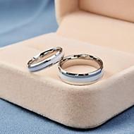 Korea Style Fashion White Titanium Steel Couple Rings Promis rings for couples