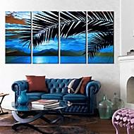 Trasferimenti su tela di arte Coconut Tree Set di 4