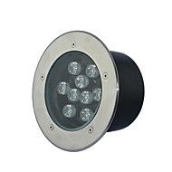 9 LED High Power Quente / Pure / Cool White Light Underground AC85-265V